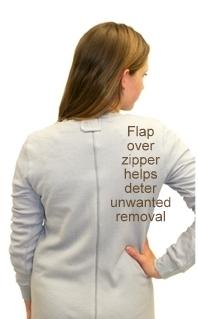Back Zipper Pajamas Special Needs Clothing