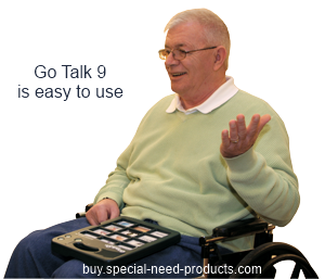 Go Talk 9 in use