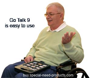 Go Talk 9 in use