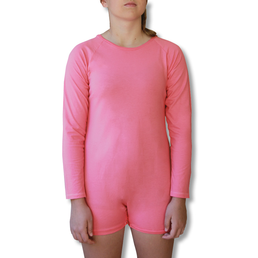 Pink Long Sleeve Onesie Bodysuit for Children and Adults