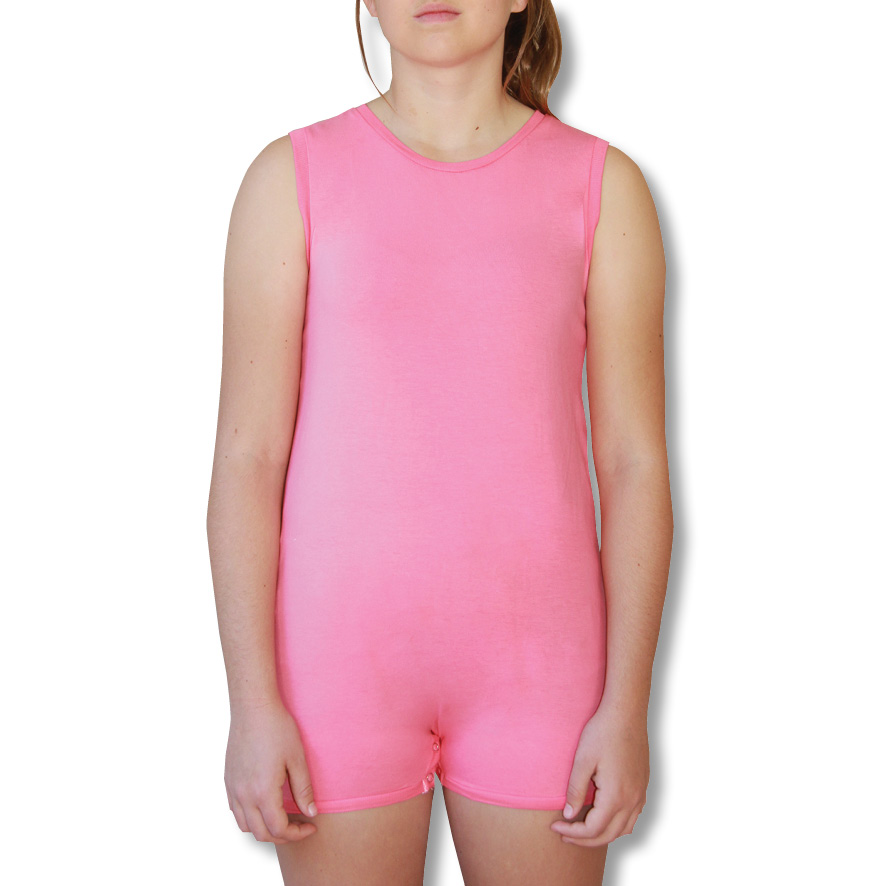 Pink Sleeveless Onesie Bodysuit