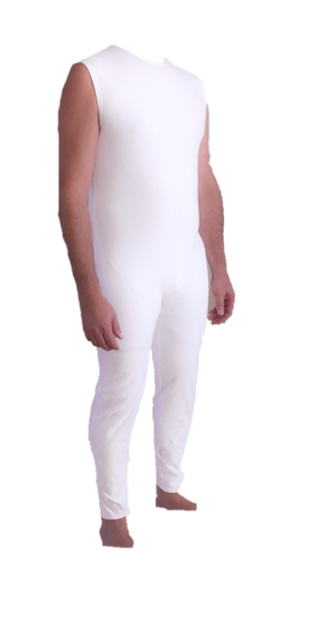 Back Zipper bodysuit with full length suitable for all ages. Popular as Alzheimers and autism clothing,