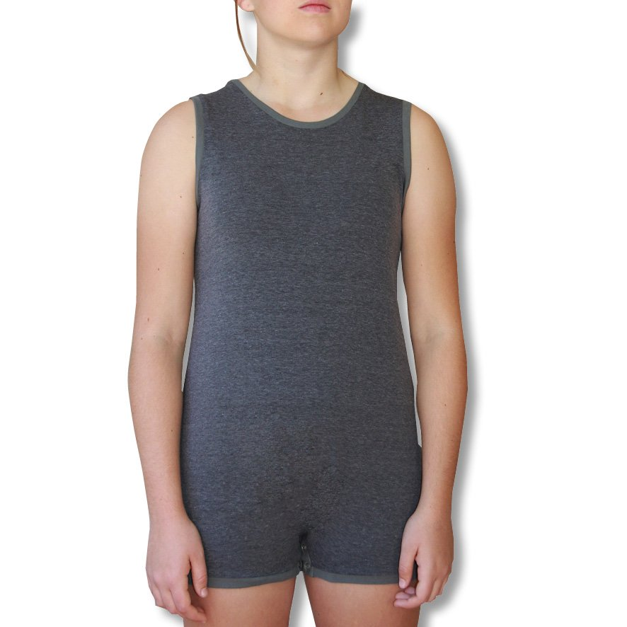 Grey Sleeveless Bodysuit - Onesie for Children