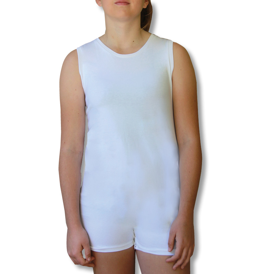 White Sleeveless Bodysuit